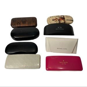Lot of 6 Designer+ 2 Sunglass Cases Coach Ray-Ban